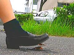 【マニアック動画】【復刻版】ザリガニが踏みにじられ自転車に轢き殺される