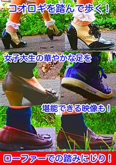 「女子大生の華やかな靴と妖精たちのローファーがコオロギを踏みにじる!」のパッケージ画像