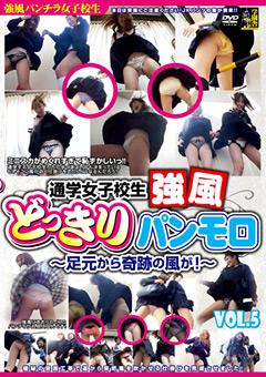 通学女子校生 強風どっきりパンモロ VOL.5