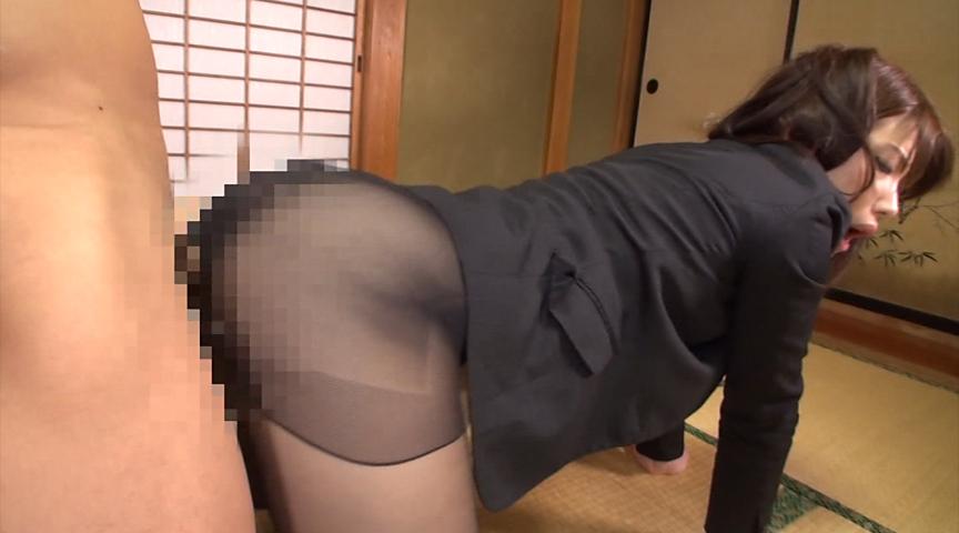 美尻パンスト不動産レディと黒スト着衣SEX 画像 14