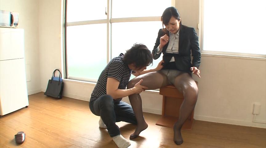 美尻パンスト不動産レディと黒スト着衣SEX 画像 18