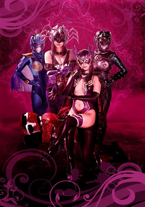 ヒーロー陥落 ~美しきガーベラと女怪人三姉妹~のジャケットエロ画像