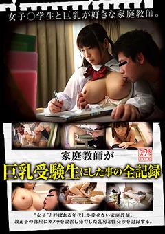 家庭教師が巨乳受験生にした事の全記録 隠撮カメラFILE 沙藤ユリ