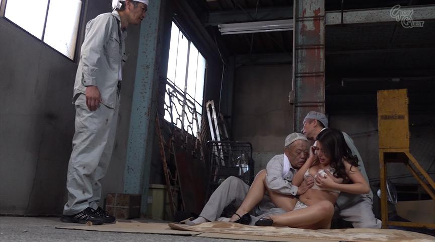 老働者に輪姦され性奴隷と化す巨乳未亡人 永井マリア