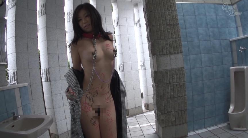 公衆トイレの便器を舐めて興奮する陵辱志願ド変態マ○コ 画像 1