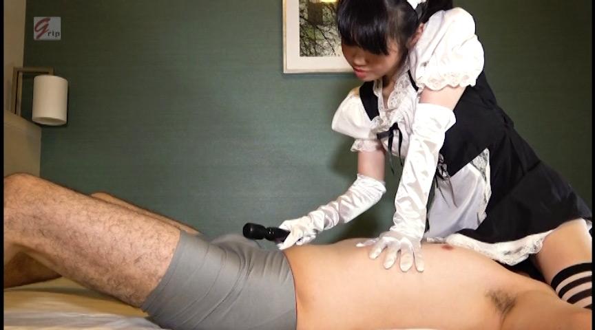 サテン手袋&ニーハイでご奉仕 M男くすぐりメイドcafe 画像 5