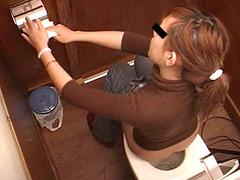 盗撮の出来る!?美人トイレ。2