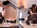 鏡を見ながらのウンコ 恥態鏡覗糞姿3のサムネイルエロ画像No.9