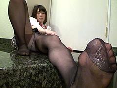 パンスト:女子○生の甘酸っぱい匂いの蒸れたパンストに射精!!