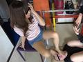 ベージュ&黒ストッキングで踏まれたり舐めさせられるのサムネイルエロ画像No.5