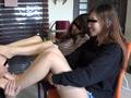 ベージュ&黒ストッキングで踏まれたり舐めさせられるのサムネイルエロ画像No.6