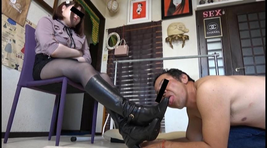 IdolLAB | hengenjizai-0419 2足のブーツで身体にヒールの痕が刻まれ喜ぶ盗撮男
