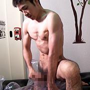 柔道73Kg級ノンケ好青年モデルの大胆オナニー