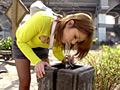 公園で水飲み