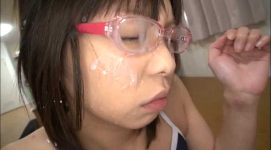 眼鏡妹 スク水フェラチオ顔射 8時間 画像 2