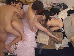ニンゲン観察 宅呑みしていた男女4人が倒錯セックス