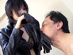 フェチ:革フェチのS女 vol.2 悶絶革パン強襲