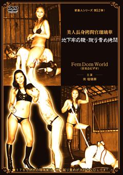 美人長身拷問官瑠璃華 地下牢の鞭・蹴り責め拷問