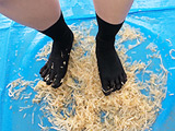 倉科ちゃんのもやしクラッシュ 五本指靴下 【DUGA】