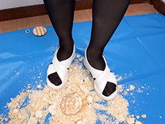 クラッシュ:倉科ちゃんの煎餅クラッシュ ナースシューズ