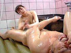 ローション全裸コキ亀頭責め2