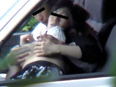 浮気人妻車内セックス盗撮