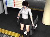 リビドーラボの3DCG女子学生パンチラ盗撮動画総集編4