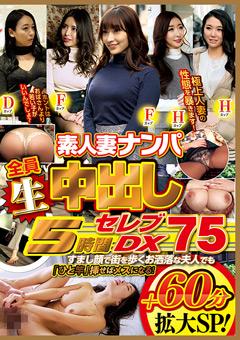 【熟女動画】先行素人妻ナンパ全員生中出し5時間ゴージャスDX-75