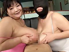 ぽっちゃり:安岡たまきと超乳かおり夢の最強タッグ実現!