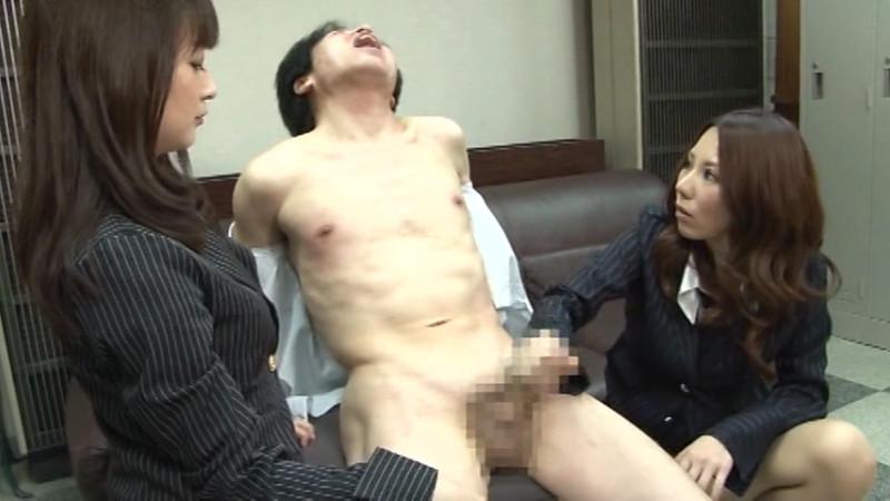 美人なお姉さんの濃厚手コキ(足コキ)でM男昇天!
