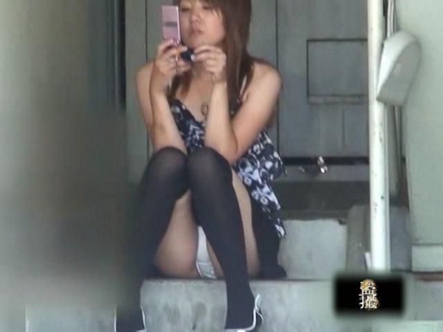 ニーハイ娘の絶対領域盗撮 画像 12