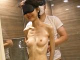 ガリガリ美女とお風呂動画