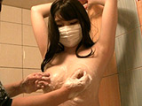 スレンダー巨乳美女 身体測定とくすぐりおっぱい洗い 【DUGA】