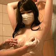 スレンダー巨乳美女 身体測定とくすぐりおっぱい洗い