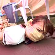 ロープで縛られ苦しみ悶える女(初島うい)