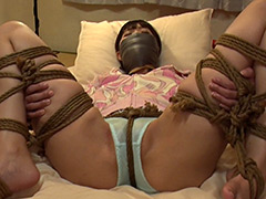 股縄DID猿轡 ロープで縛られ苦しみ悶える女(今井まい)