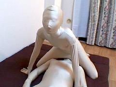 ゼンタイ人形でHしよっ!!+はじめての全身タイツ