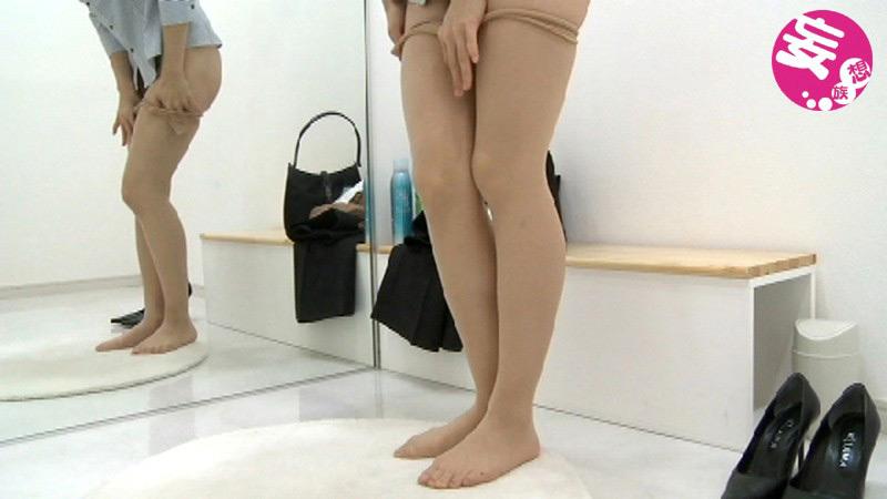じっくり眺める 美脚OLパンストの履き替え2 画像 6