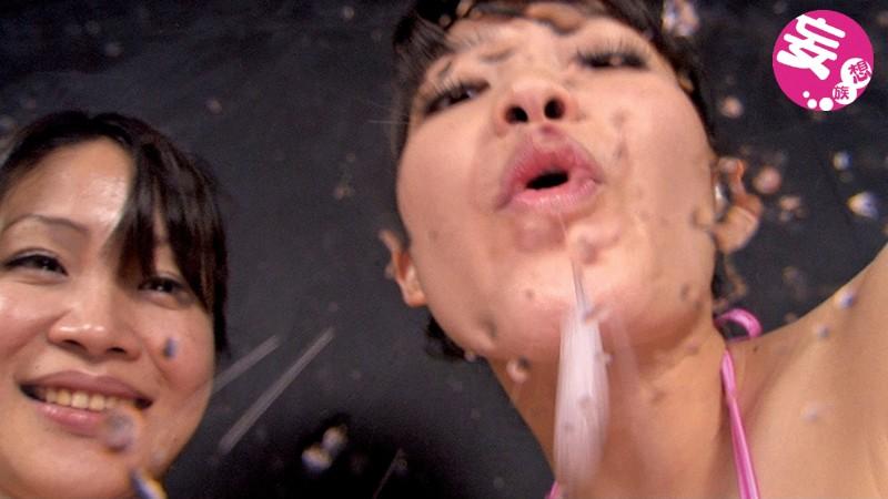 極限超顔面唾吐き舐めレズ 画像 6
