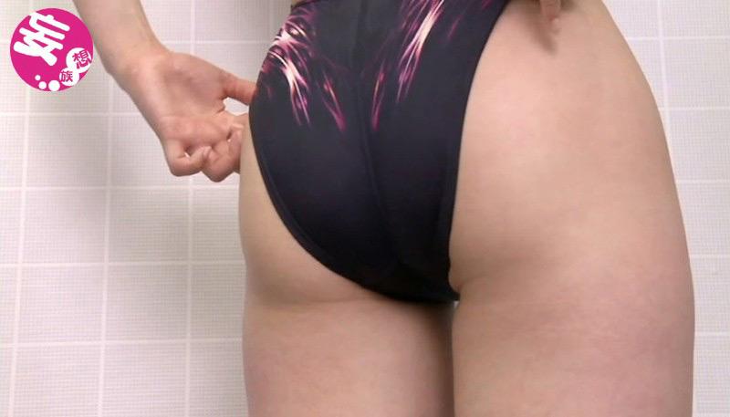 競泳水着からハミ出る豊満な女体とデカ尻盗撮!3 画像 5