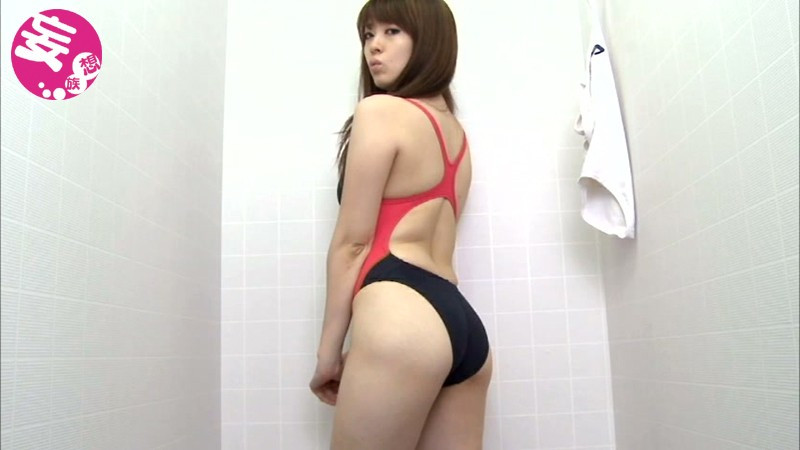 競泳水着からハミ出る豊満な女体とデカ尻盗撮!6 画像 8