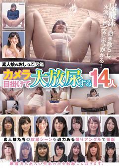 【スカトロ動画】素人娘のおしっこ図鑑-カメラ目掛けて大放尿する14人