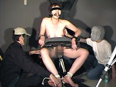電マ固定放置拷問&くすぐり講習会
