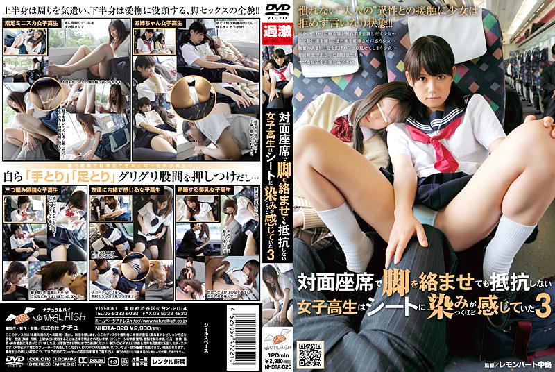 対面座席で脚を絡ませても抵抗しない女子校生3