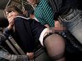 美脚女のパンツを没収し黒ストッキング越しの痴漢2