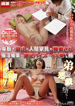 【レイプ動画】人間家具を強要され催淫媚薬と固定バイブでイキ果てる姉