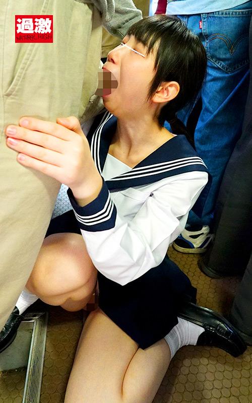 満員バスで背後から制服越しにねっとり乳揉み痴漢され腰をクネらせ感じまくる巨乳女子○生7 9枚目