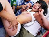 痴漢師に満員電車の中で下着姿にされ抵抗できない敏感女