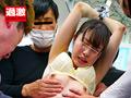 痴漢師に満員電車の中で下着姿にされ抵抗できない女3のサムネイルエロ画像No.9