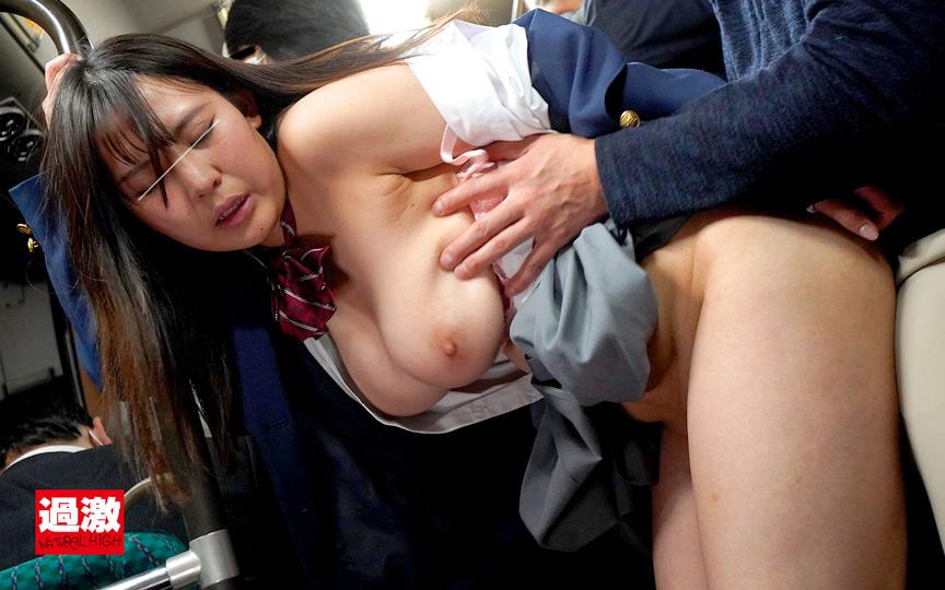 満員バスで背後から制服越しにねっとり乳揉み痴漢され腰をクネらせ感じまくる巨乳女子○生13 8枚目